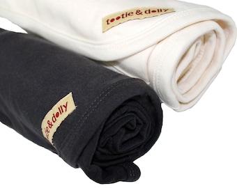 Organic Baby Blanket - Baby Blanket - Toddler Blanket - Natural or Black 30in x 28in