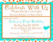 First Birthday  Invite. 5x7 printable design