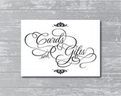 "Cards & Gifts Sign 5x7"" DIY Wedding Poster Printable"