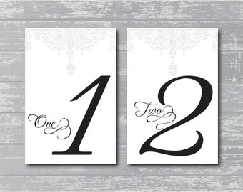 Custom Antique Gate Design Wedding Reception Table Numbers DIY