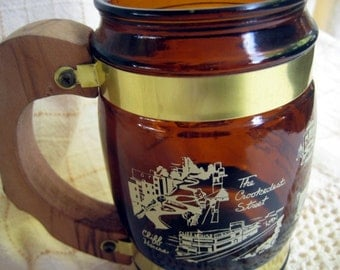 Vintage San Francisco Souvenir Brown Beer Mug Cup