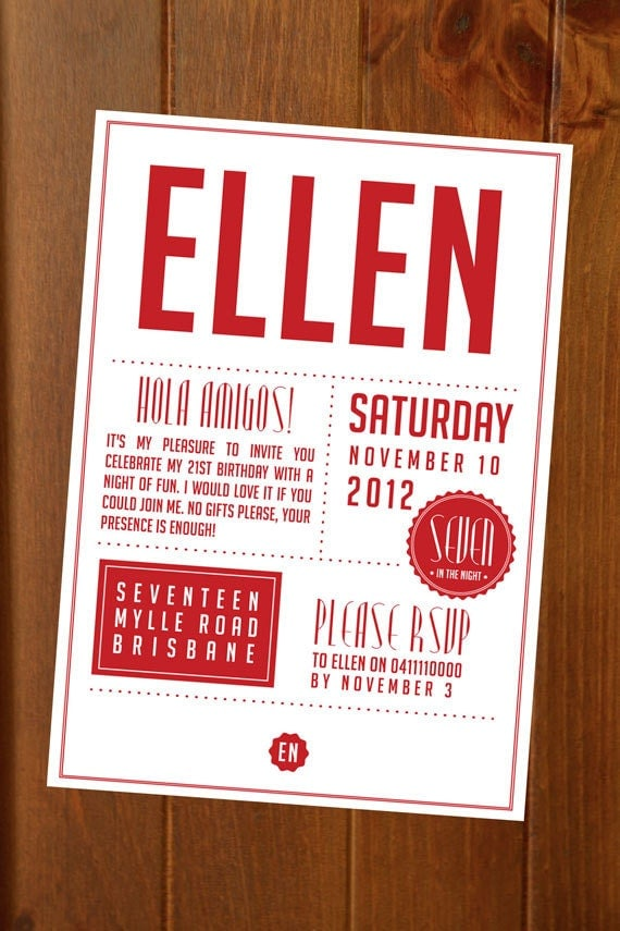 Items Similar To Modern Seal Invitation  Custom Printable Event