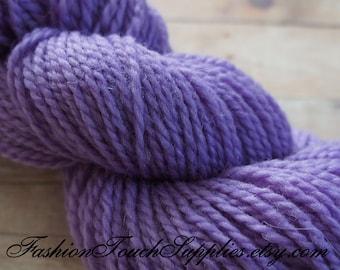 Hand Dyed Yarn in Purple 274 yrds 026