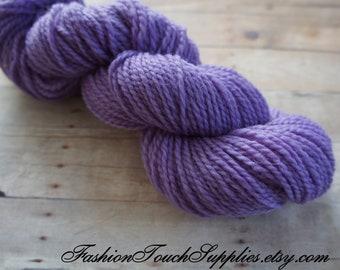 Hand Dyed Yarn in Purple 140 yrds 026