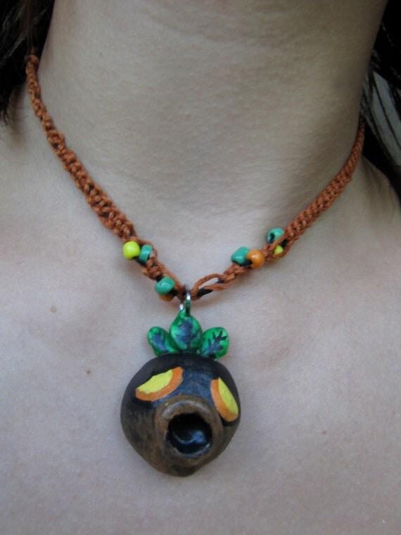 Deku mask necklace