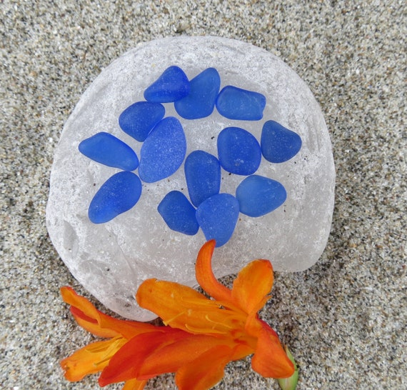Cobalt Blue Genuine Sea Glass Jewelry quality Real Authentic  Beach Glass from Glass Beach Fort Bragg CA
