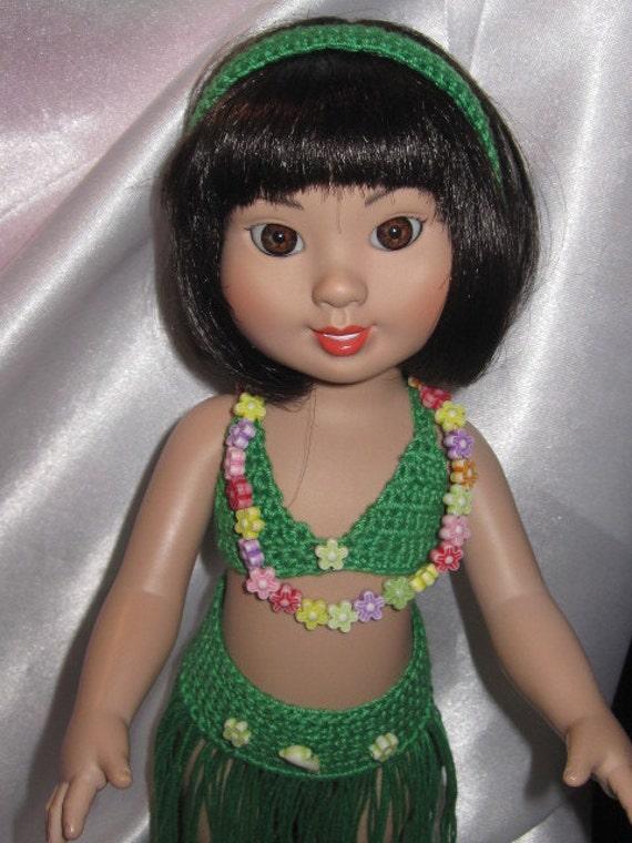 "Crochet Hula Dress Set for 10"" Dolls Ann Estelle Robert Tonner"