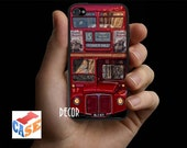 London Red Bus . iPhone case for iphone 4/4S. Rubber/Silicone or Hard Plastic Case.