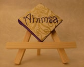 "2X2 Mini Canvas ""AHIMSA"" Magnet"