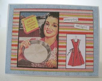 """Retro Card """"Everyday delight - domestic goddess soap"""""""