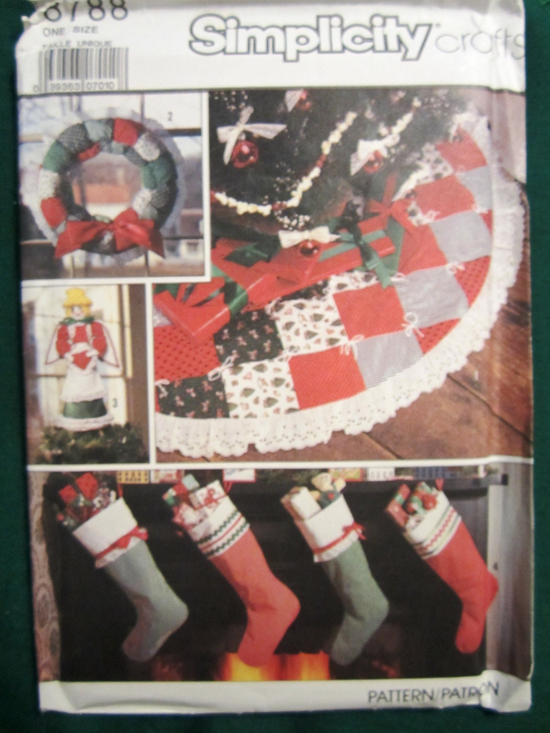 Simplicity Craft Pattern 8788 Nip For Tree Skirt Puff