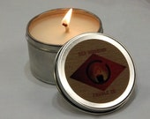 Vanilla Bean and Pear Scented 4 Ounce Soy Wax Travel Candle,