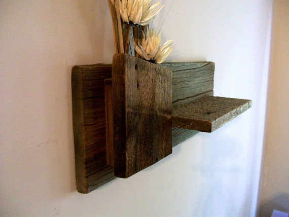 Rustic / Reclaimed / Barn Wood Wall Shelf