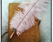 Pale Pink Ostrich Feather Quill