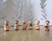 on SALE - Wooden miniature choir boy figurines