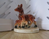 On SALE - Ceramic deer and fawn