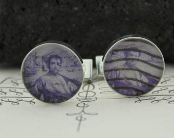 Custom Cufflinks - Destination Wedding Cufflinks - Custom Cufflinks for Men - Groom Groomsmen Father of the Bride - Italy Wedding Cufflinks