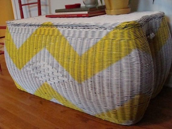 RESERVED FOR HEATHER rattan blanket chest