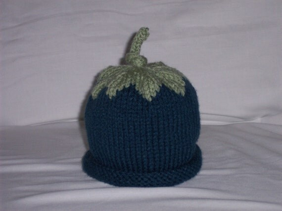 Knitted Blueberry Hat