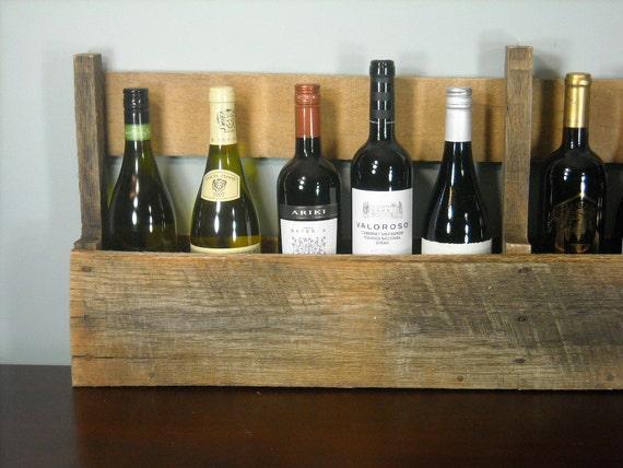 Pallet Wine Rack / Rustic Wine Shelf / Book Shelf / Reclaimed Wood / Wine Bottles