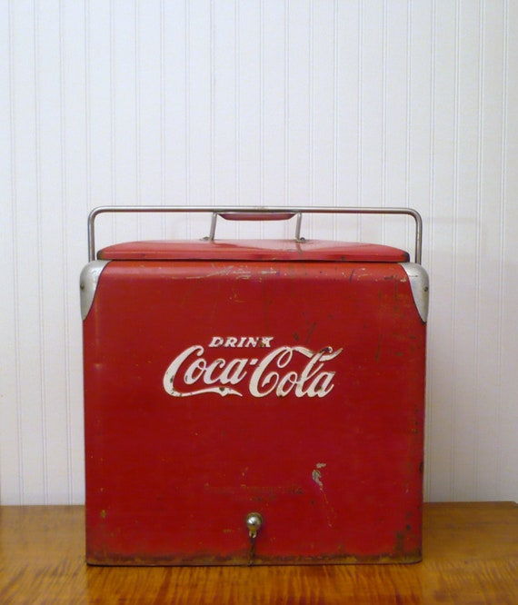 Vintage Coke Coolers Craigslist: VINTAGE COOLER Coolbox RED Retro