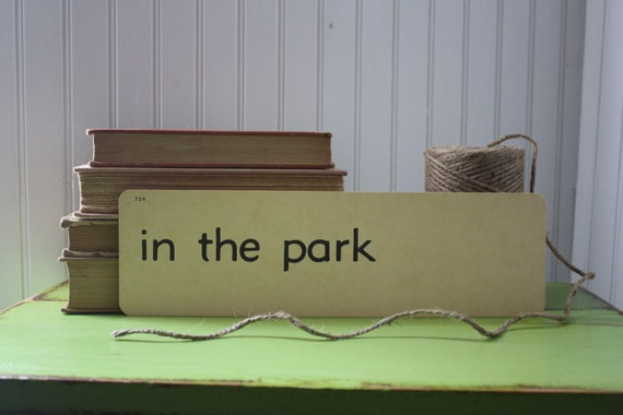 vintage flash card - in the park