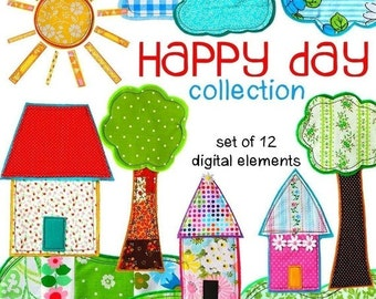 Digital Clip Art --  Happy Day Collection (Instant Download)