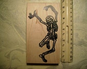 Dia de Los Muertos  Day of the dead skeleton No.7  large rubber stamps wood mounted scrapbooking rubber stamping