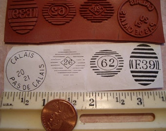 Calais France & Europe postal cancellation Rubber stamp un-mounted scrapbooking rubber stamping