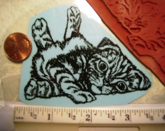 flop cat kitty kitten  rubber stamp un-mounted scrapbooking rubber stamping
