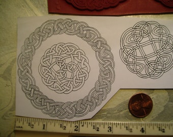 circle tattoo celtic knots rope  rubber stamp un-mounted scrapbooking rubber stamping