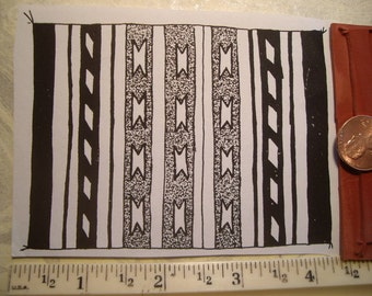 American Indian rug, blanket, weaving cloth rubber stamp un-mounted scrapbooking rubber stamping
