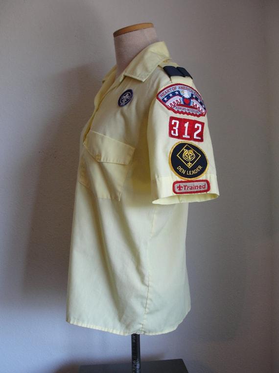 Vintage Yellow Den Leader's Boy Cub Scout Shirt