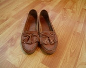 Women's VIntage Brown Leather Loafers Size 7.5