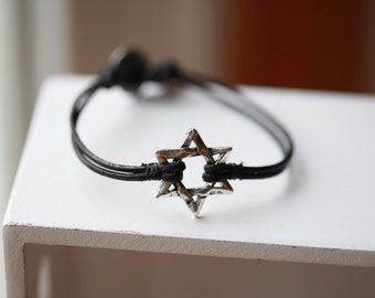 Star of David Mens Bracelet - Star of David Magen David - Shield of David