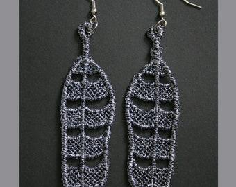 Snowy Owl Feather FSL Earrings