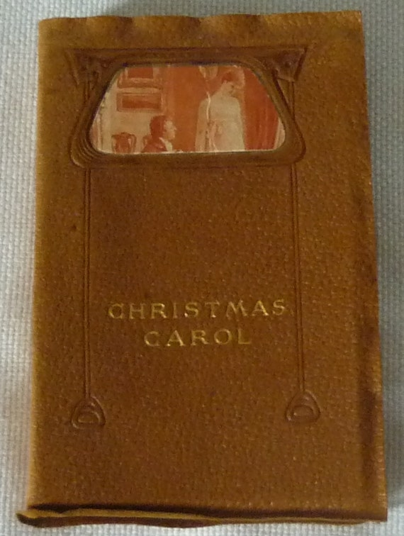 A Christmas Carol by Charles Dickens 1906 Book Leather Bound Classic Novel