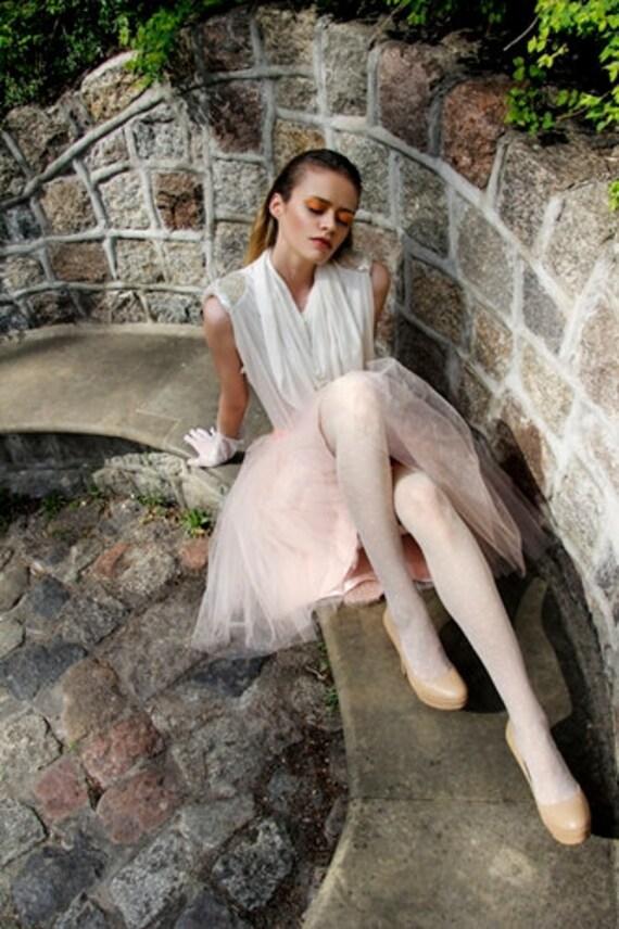 Adult champagne tutu skirt, wedding tulle skirt, petitcoat