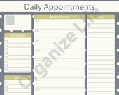 Daily Appointment Planner - Printable PDF - Instant Download