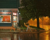 "Warm Summer Rain, 6.5"" H x 10"" W, Offset Print by Paul Hannon, FREE SHIPPING Canada & US"