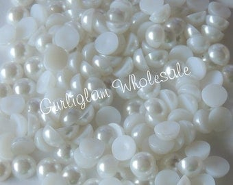 4mm White Flatback Pearl - 100 pcs