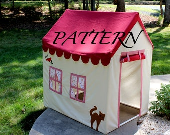 Playhouse with PVC frame - Fort - PATTERN - instant download 3 PDF Files