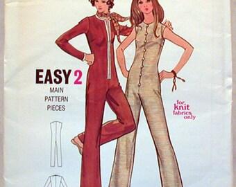Vintage Butterick Pattern 6015 Sz. 7JP NOS Junior Petite & Misses Jumpsuit