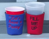 Custom Embroidered Solo Cup Koozies