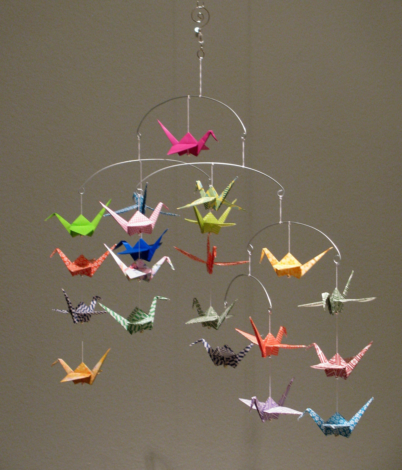 Beautiful Origami Crane Mobile - photo#27