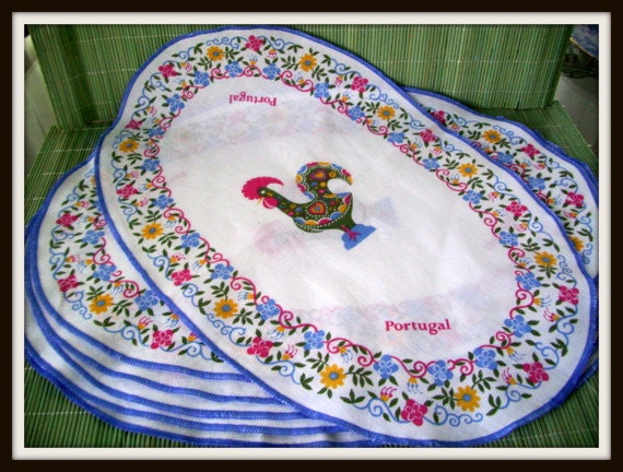 Vintage Placemats Made in Portugal with 'Portugal'