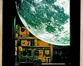 Moon Autumn Used BookStore -- Autumn Fall Mid Century Modern Atomic Art - Fine Art Hipstamatic Photograph -