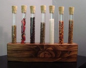 Spice Rack -Test Tube - Blemish Rack 7 - Early American Finish