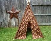 Autumn Arrives Kids Tent, Childrens Teepee, Teepee, Play Tent, Indoor Tent, Kids Tent Fall Leaves Print