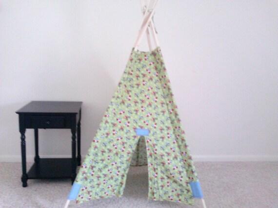 Kids Teepee, Play Tent, Tipi, Indoor Tent, Childrens Teepee, Planes, Bikes, and Monkeys Teepee
